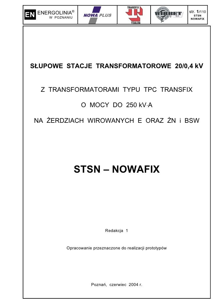 ENERGOLINIA®                                                  str. 1/110 EN      W POZNANIU                               ...