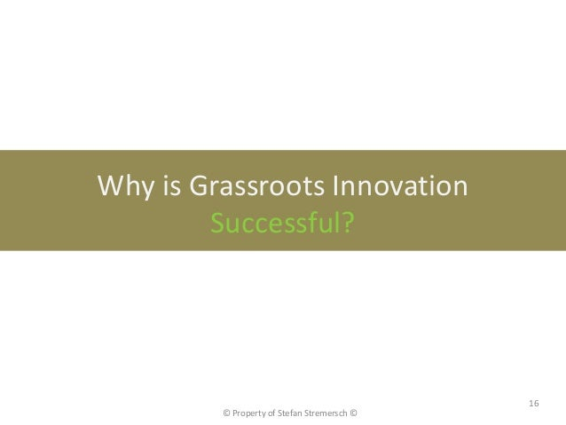 Why is Grassroots Innovation        Successful?                                             16         © Property of Stefa...