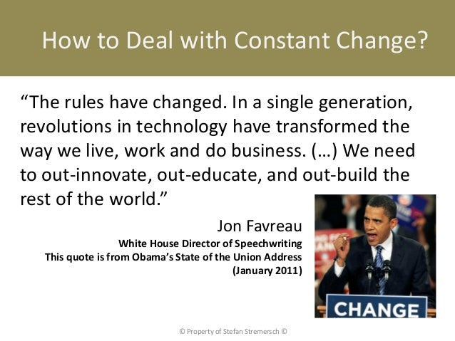 """How to Deal with Constant Change?""""The rules have changed. In a single generation,revolutions in technology have transforme..."""