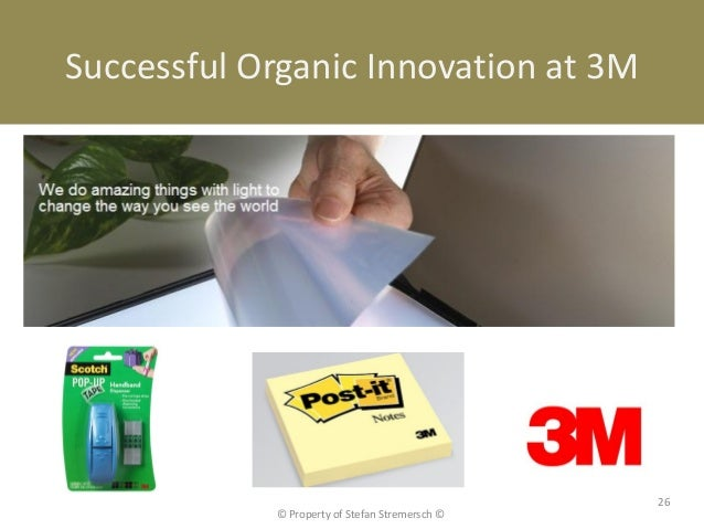 Successful Organic Innovation at 3M                                                26            © Property of Stefan Stre...