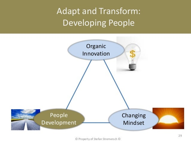 Adapt and Transform:     Developing People                 Organic               Innovation   People                      ...