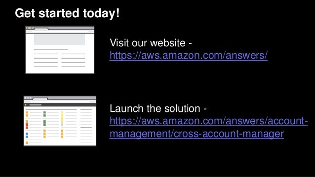 Get started today! Visit our website - https://aws.amazon.com/answers/ Launch the solution - https://aws.amazon.com/answer...