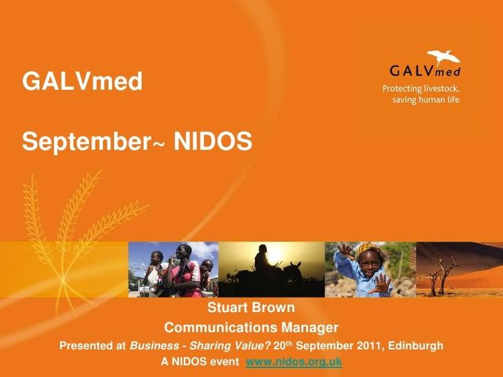 Stuart Brown<br />Communications Manager<br />Presented at Business - Sharing Value? 20th September 2011, Edinburgh<br />A...