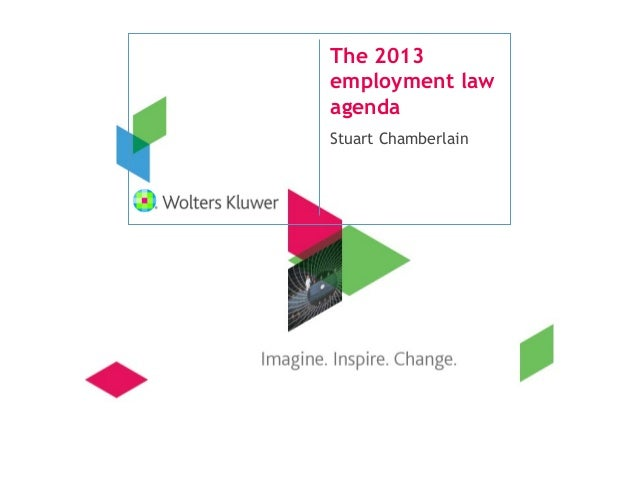 The 2013employment lawagendaStuart Chamberlain