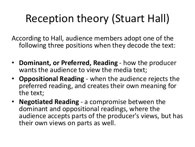 halls theory Stuart hall's theory of cultural identity born in new delhi, studied all the subjects  in an english school, watched american and english tv.