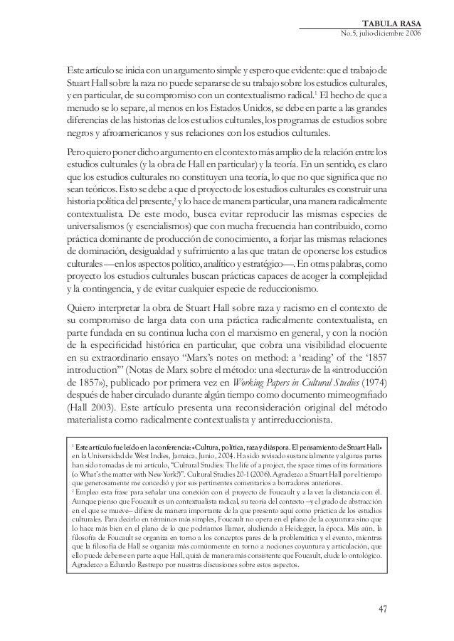 TABULA RASA  No.5, julio-diciembre 2006  Este artículo se inicia con un argumento simple y espero que evidente: que el tra...