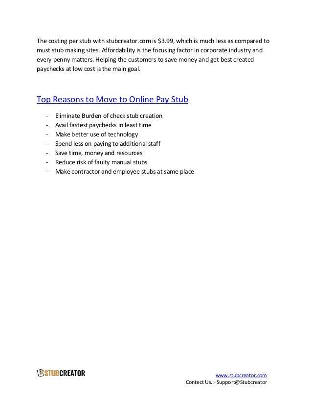 online pay stub generator