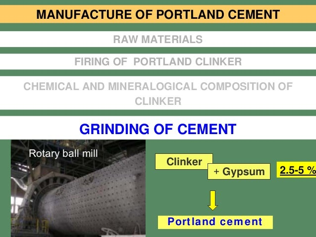Portland Cement Ball Mill : Stud l cement manufacture