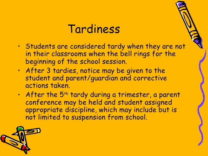 The causes of tardiness among freshmen students