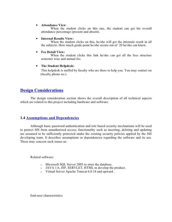 Student information-system-project-outline