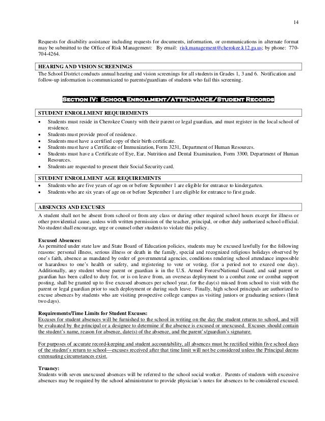 Studentparent Handbook