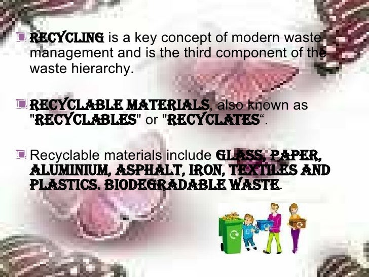 Recycling of waste materials essay