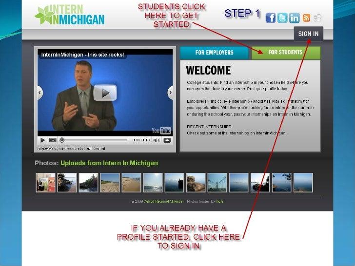 Intern In Michigan Student Registration (9 Steps)
