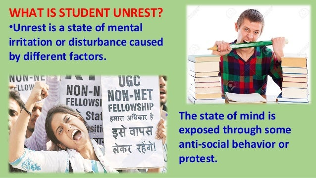 causes of student unrest