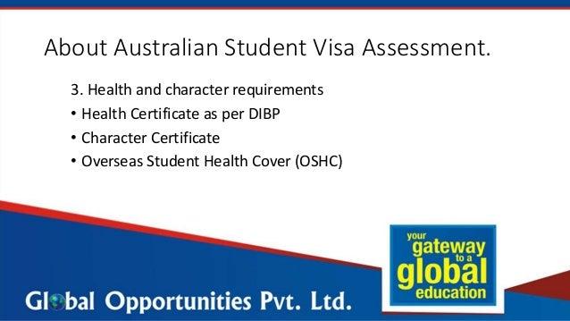 application status for australian student visa