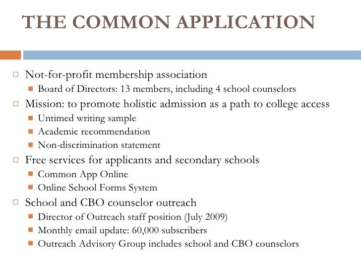 Student Services The Common Application And Creating A Competitive C