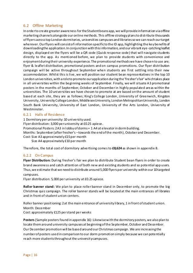 Student beans marketing plan 17 page 16 62 offline marketing inordertocreate greaterawarenessforthestudentbeansapp thecheapjerseys Gallery