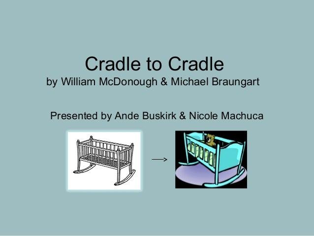 Cradle to Cradleby William McDonough & Michael BraungartPresented by Ande Buskirk & Nicole Machuca