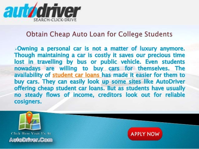 Car Loan With Bad Credit And No Cosigner >> Student Car Loans With No Job Or No Cosigner, Unemployed Student Auto…