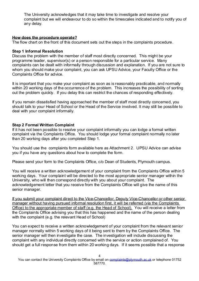 Student complaints procedure 4 the university acknowledges spiritdancerdesigns Choice Image