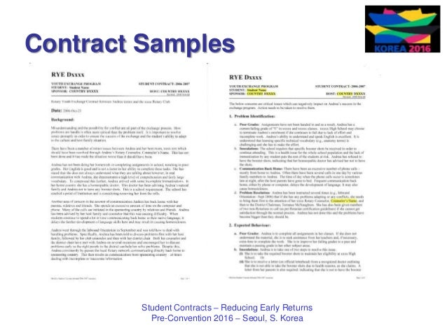 Student Contracts