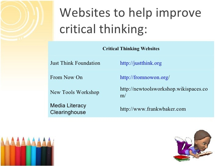 Selected Sources Foundation for Critical Thinking  www criticalthinking org