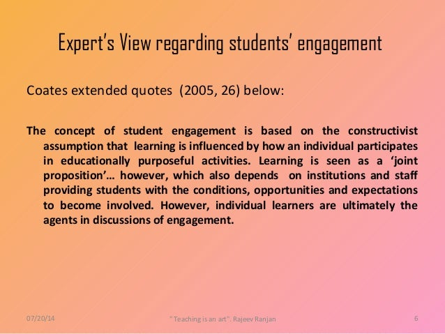 student engagement Find out what student engagement is, and its importance for learning learn about student engagement theory read the lesson then take a quiz to.