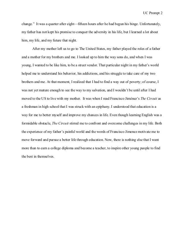 Uc Essay Examples Prompt 2