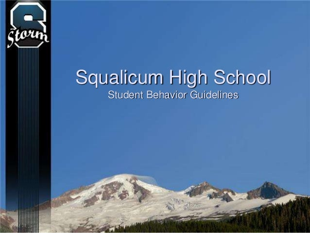 Squalicum High School Student Behavior Guidelines