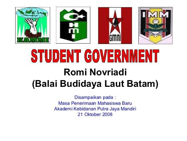 Romi Novriadi(Balai Budidaya Laut Batam)            Disampaikan pada :     Masa Penerimaan Mahasiswa Baru    Akademi Kebid...