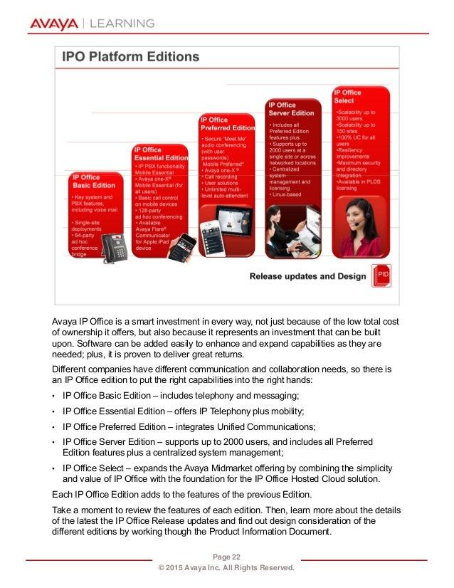 avaya ip office licensing guide
