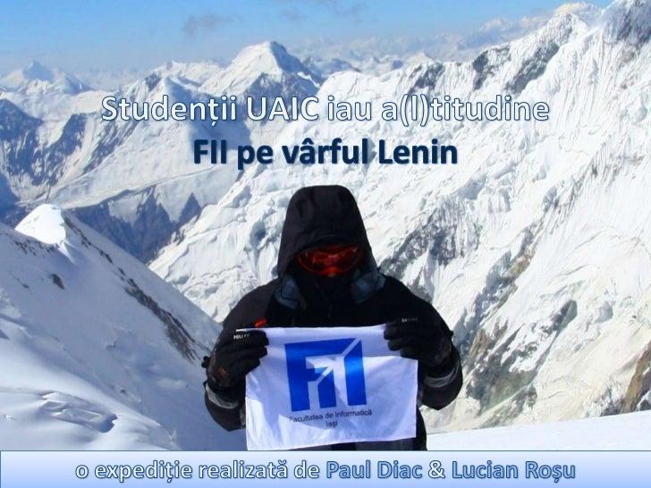 """Universitatea """"A. I. Cuza"""" din Iasi, RomaniaFacultatea de Informatică"""