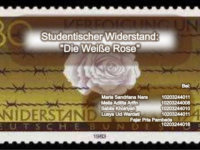 Ein Anti-Nazi-Organisation in den Zweiten Weltkrieg  die studentische Widerstandsgruppe von Üniversität München  Die Sch...