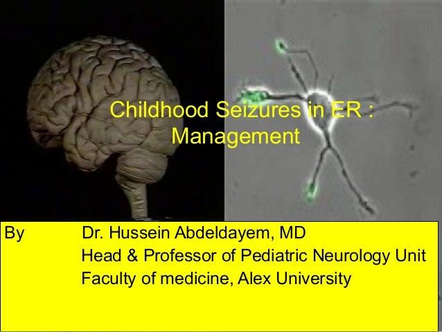 Childhood Seizures in ER :              ManagementBy   Dr. Hussein Abdeldayem, MD     Head & Professor of Pediatric Neurol...