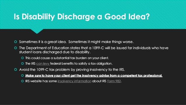 student loans and disability discharge
