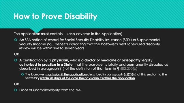 student loan discharge due to disability