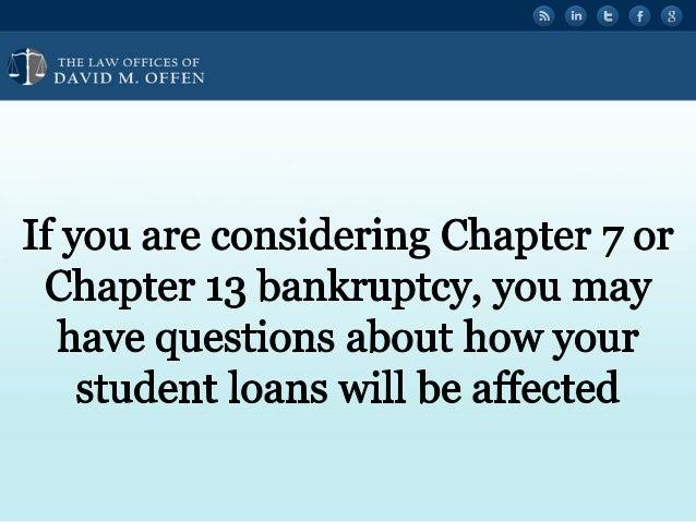 Student Loans in Philadelphia Bankruptcy Slide 2