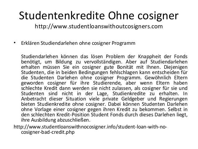 Studentenkredite Ohne cosigner http://www.studentloanswithoutcosigners.com • Erklären Studiendarlehen ohne cosigner Progra...