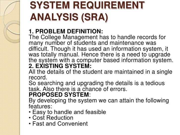 project proposal for student information system Once the capstone advisor signs the proposal, the student will submit it to the   yes, it is in the very best interest of all students to finish their project, thesis,.