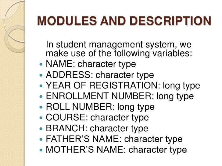 requirements for student registration system Software requirements specification for  page 2 developer :the developer who wants to read,change,modify or add new requirements into the existing program,must firstly consult this document and update the requirements with.