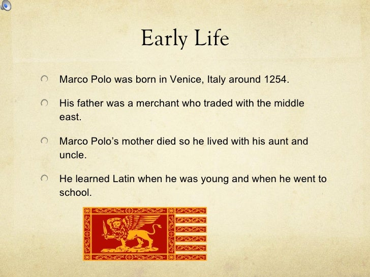 Student marco polo