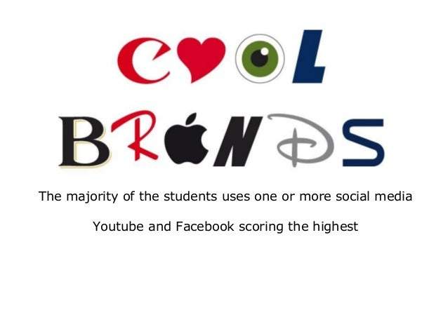 The majority of the students uses one or more social media Youtube and Facebook scoring the highest
