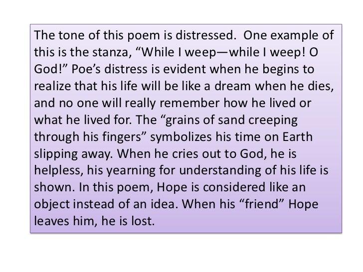Edgar allan poe a dream within a dream essay