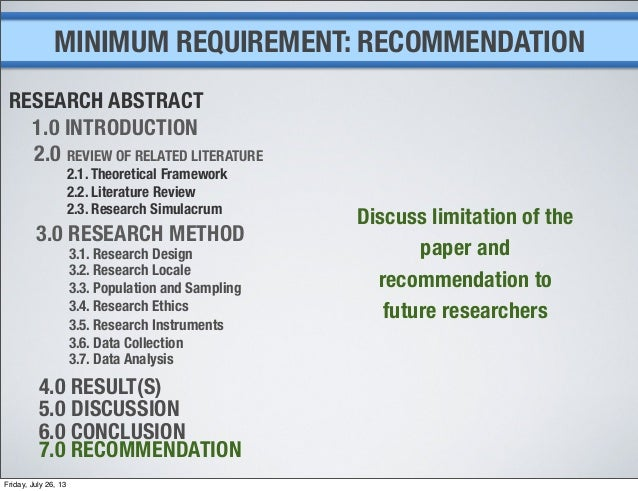 recommendation future research thesis