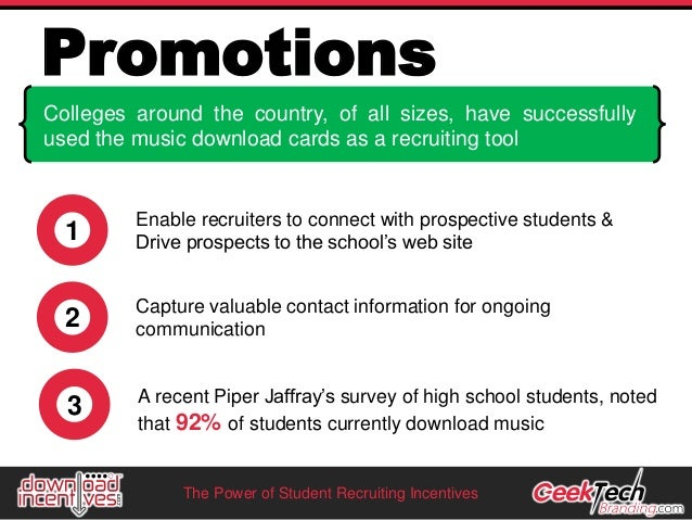 Student Recruiting Incentive Ideas