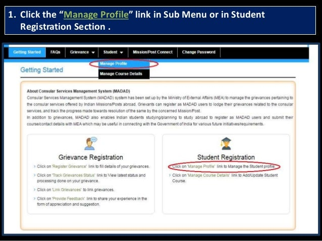 Student registration at madad Slide 3