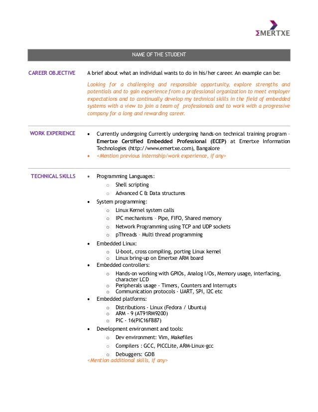 Basic Resume Format High School Student