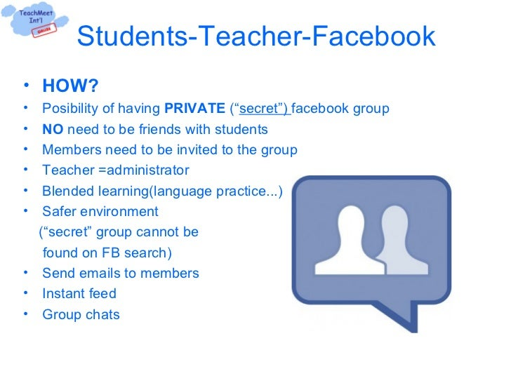 should teachers and students be friends on facebook essay Should teachers and students be 'friends' on social media should teachers and students be facebook friends, askedtoday show parents article.
