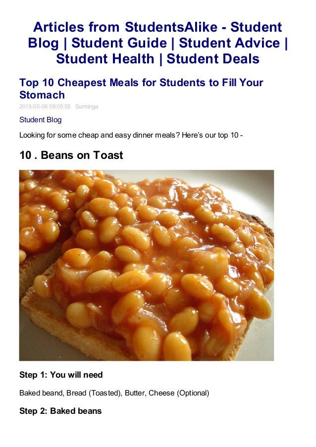Top 10 cheapest meals for students to fill your stomach studentsali forumfinder Choice Image