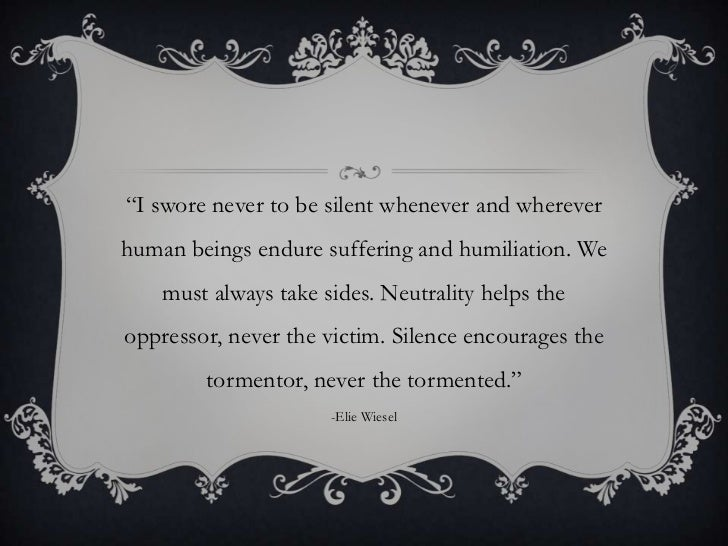 the pain and suffering of the jews in night by elie wiesel Night (1960) is a work by elie wiesel about his experience with his father in the nazi german concentration camps at auschwitz and buchenwald in 1944-1945 the jewish prayer for the dead wiesel writes that in the long history of the jews for suffering, for blows, for the ration of.